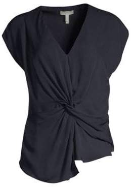 Joie Bosko Silk Knotted Front Top