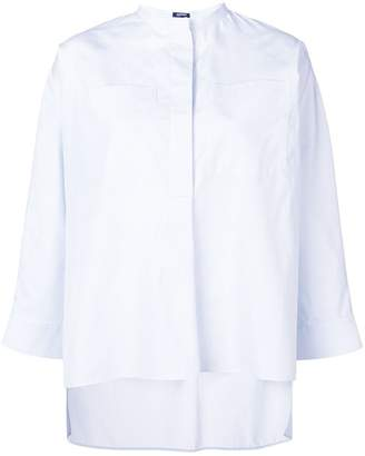 Jil Sander Navy boxy mandarin collar shirt