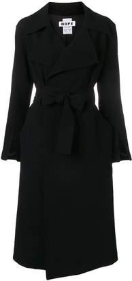 Hope belted wrap coat