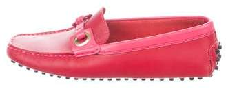 Tod's Leather Square-Toe Loafers