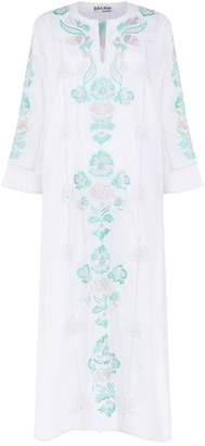 Juliet Dunn Embroidered Cotton Midi Kaftan