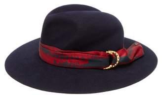 Maison Michel Yoshiko Rabbit Felt Hat - Womens - Navy