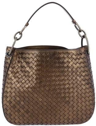 Bottega Veneta Handbag Hobo Bag Loop Small In Nappa With Woven Pattern And Maxi Rings