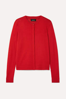 Akris Cashmere And Silk-blend Cardigan - Red