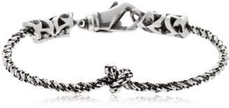 Emanuele Bicocchi Knot Silver Chain Bracelet