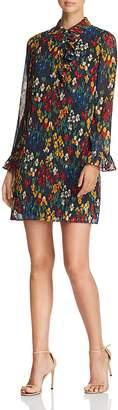 Tory Burch Livia Floral Dot Ruffle Shirt Dress