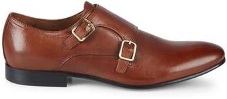 Kenneth Cole Leather Monk Strap Shoes