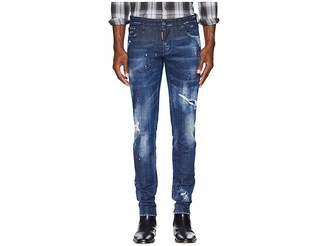 DSQUARED2 Dark Worked Vertical Slash Slim Jeans