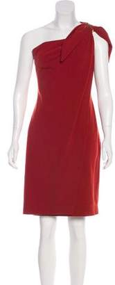 Kaufman Franco KAUFMANFRANCO One-Shoulder Mini Dress