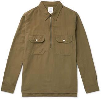 Visvim Cotton And Linen-Blend Half-Zip Shirt