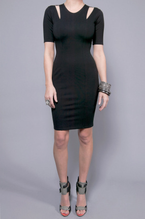 Mason by Michelle Mason Cutout Dress Black