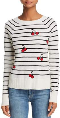 Aqua Cherry Striped Cashmere Sweater - 100% Exclusive