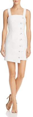 Finders Keepers Mila Button-Detail Mini Dress