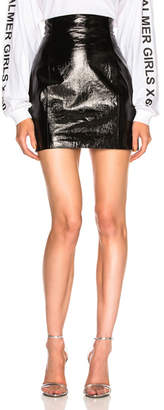 Palmer Girls x Miss Sixty Patent Leather High Waisted Skirt