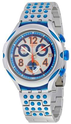 Swatch 16 Dots Chronograph Grey and Blue Dial Aluminium Unisex Watch YYS4007AG