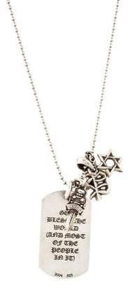 Chrome Hearts Dog Tag Pendant Necklace
