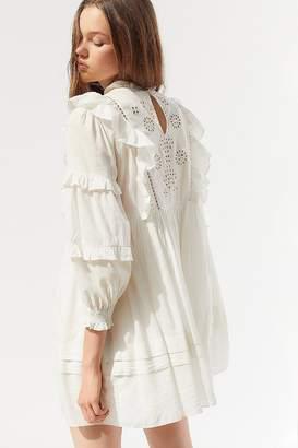 Urban Outfitters May Eyelet Ruffle Babydoll Dress