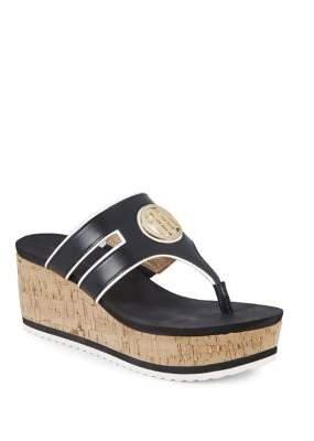 Tommy Hilfiger Galley Cork Platform Wedge Sandals