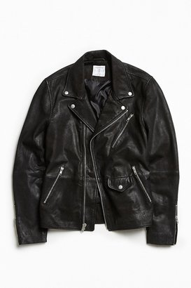 Urban Outfitters UO Beatdown Leather Moto Jacket $279 thestylecure.com