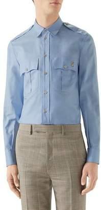 2907434f Mens Blue Collar Flap Pocket Shirt - ShopStyle