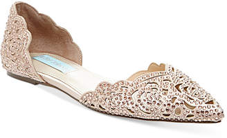 Betsey Johnson Blue by Lucy Embellished Flats Women Shoes