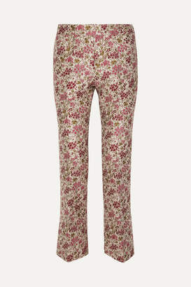 Giambattista Valli Floral-jacquard Straight-leg Pants - Red
