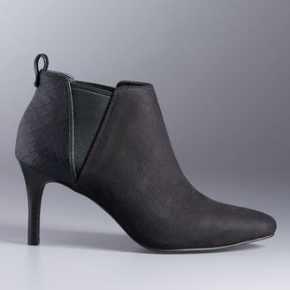 Simply Vera Vera Wang Low Heel Chelsea Boots $74.99 thestylecure.com