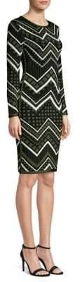 Herve Leger Knit Geometric Bodycon Dress