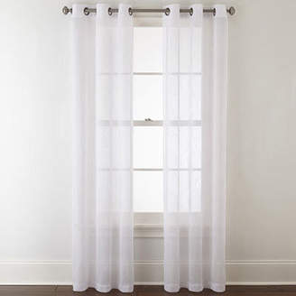 Home Expressions Nora 2-Pack Grommet-Top Sheer Curtain Panel