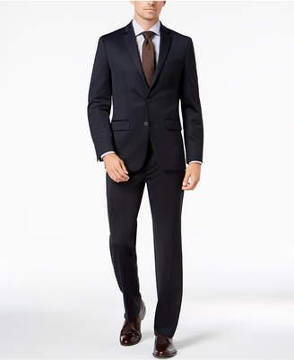 Van Heusen Flex Men's Slim-Fit Stretch Navy Tic Suit