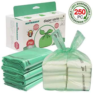 Hathaway Easy-Tie Baby Disposable Diaper Sacks/Diaper Bags with Baby Powder Scent