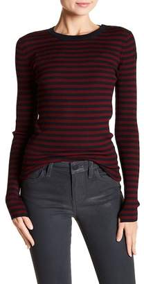 A.L.C. Keenan Striped Silk Blend Top