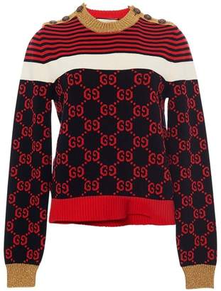 Gucci Crewneck Sweater with GG Logo