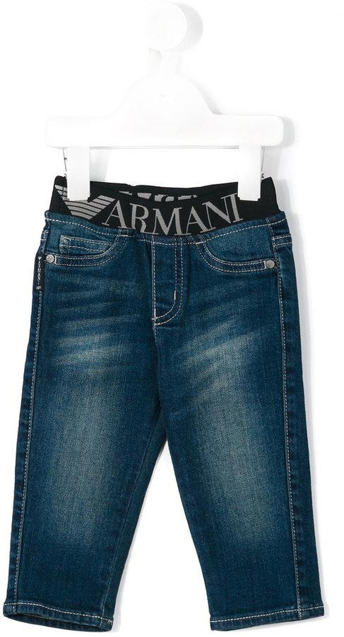 Armani JuniorArmani Junior logo waistband jeans