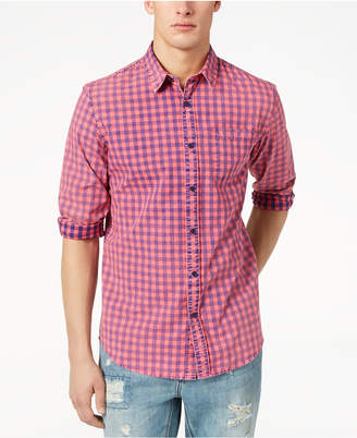 American Rag Men's Faded Check Shirt, Created for Macy's