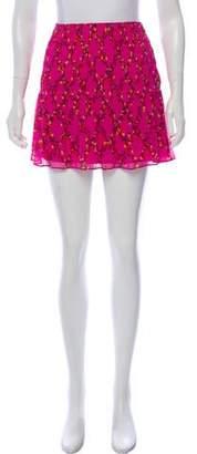 Diane von Furstenberg Tayte Printed Mini Skirt w/ Tags