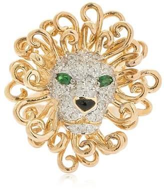 Lion 18kt Gold & Diamonds Ring