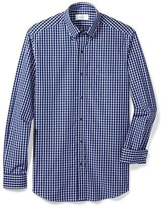 Buttoned Down Men's Classic Fit Supima Cotton Button-Collar Pattern Dress Casual Shirt