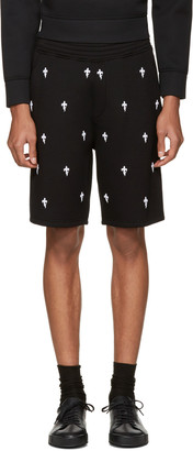Neil Barrett Black Fleur de Thunder Shorts $440 thestylecure.com