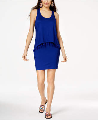 Trina Turk Popover Tassel-Trim Sheath Dress