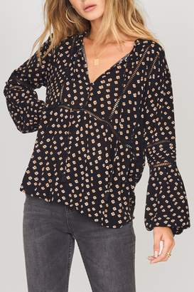 Amuse Society Chateau Woven Top