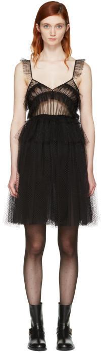 MSGM Black Tulle Dress