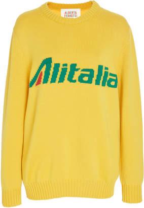 "Alberta Ferretti Alitalia"" Virgin Wool Sweater Size: M"