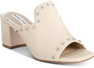 Rialto Stephy Studded Block-Heel Slide Sandals Women Shoes