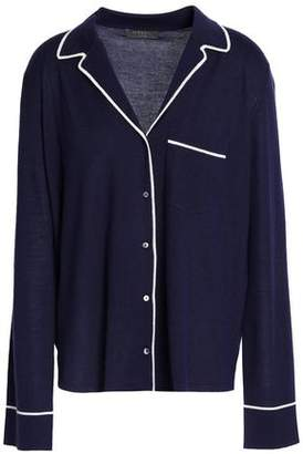 N.Peal Cashmere And Silk-Blend Pajama Shirt