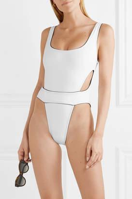 Karla Colletto Elle Cutout Swimsuit - White