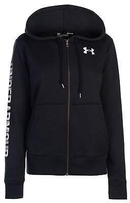 Under Armour Womens Logo Fleece Zip Hoodie Hoody Hooded Top Long Sleeve Full