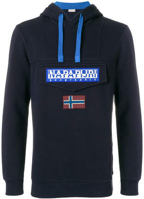 Napapijri logo patch hoodie