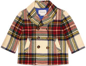 Baby wool tartan pea coat $685 thestylecure.com