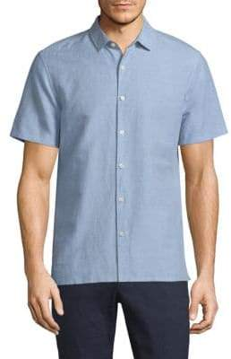 Theory Murray Essential Linen Blend Shirt